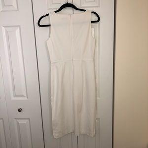 Ann Taylor Dresses - Ann Taylor white side button sleeveless dress 0